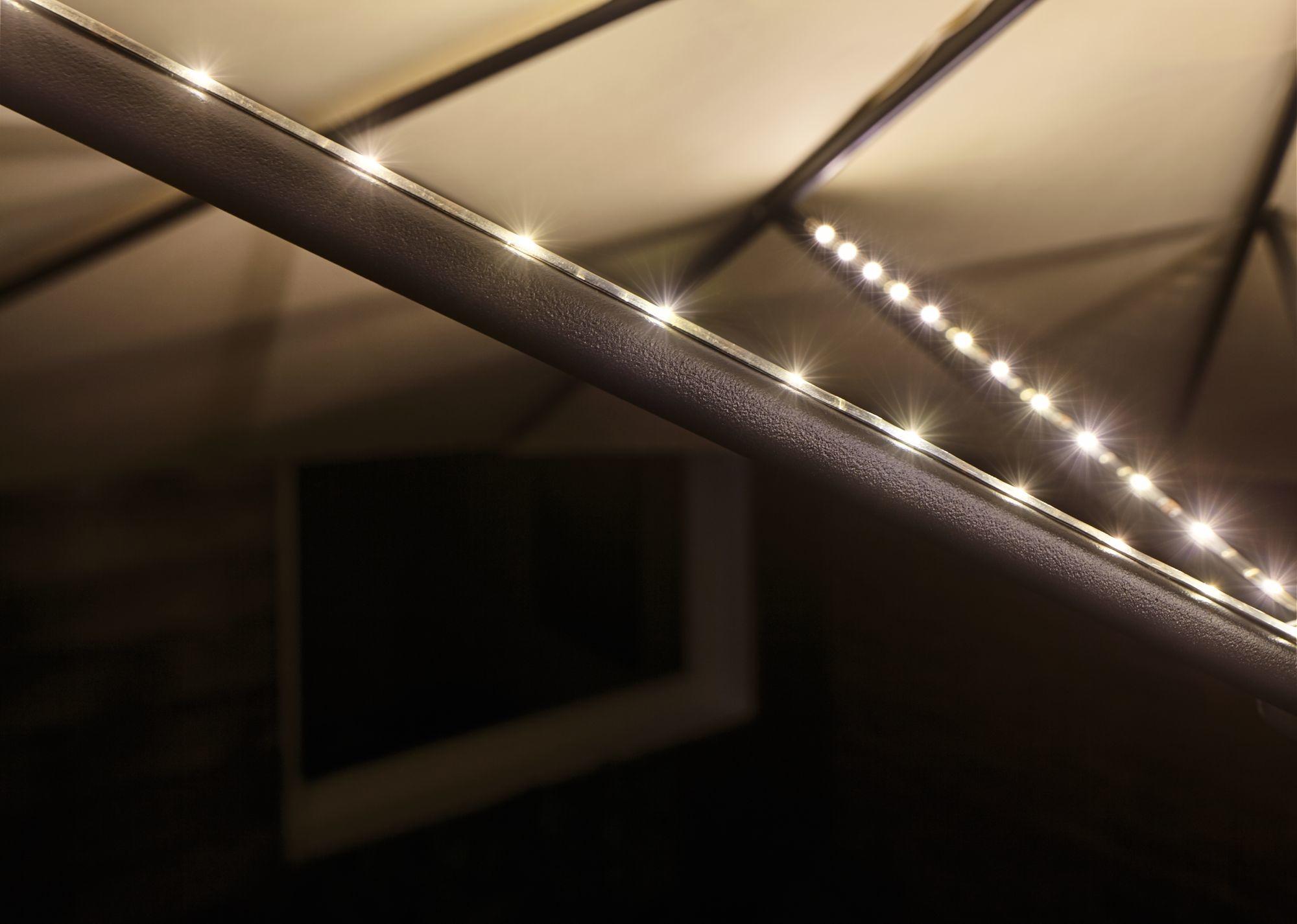 Paulmann Mobile Strip Parasol-Light Schirmbeleuchtung 6er-Set, 6x27cm
