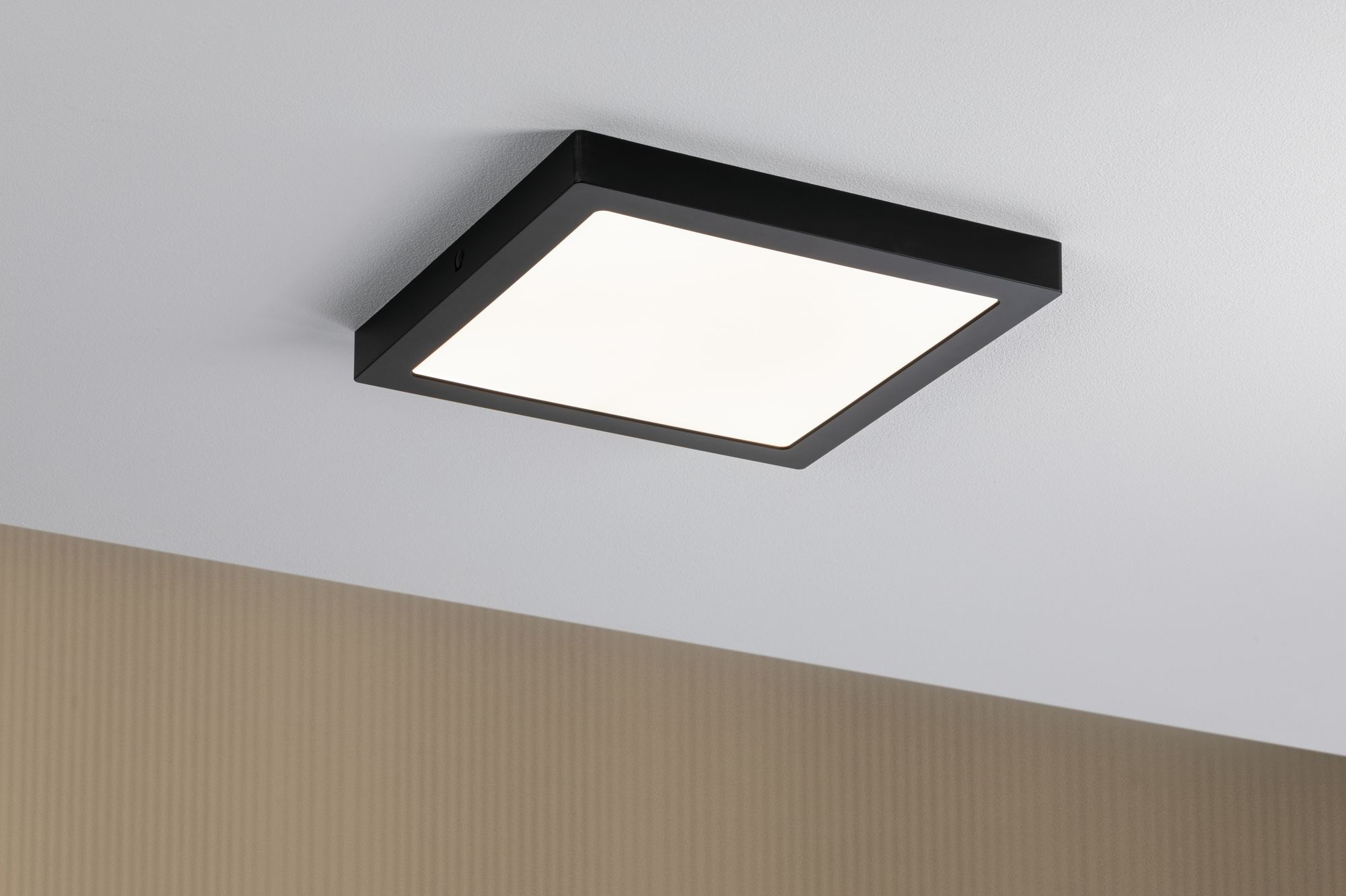 Paulmann LED Panel Abia eckig 300x300mm 22W 2.700K Schwarz matt