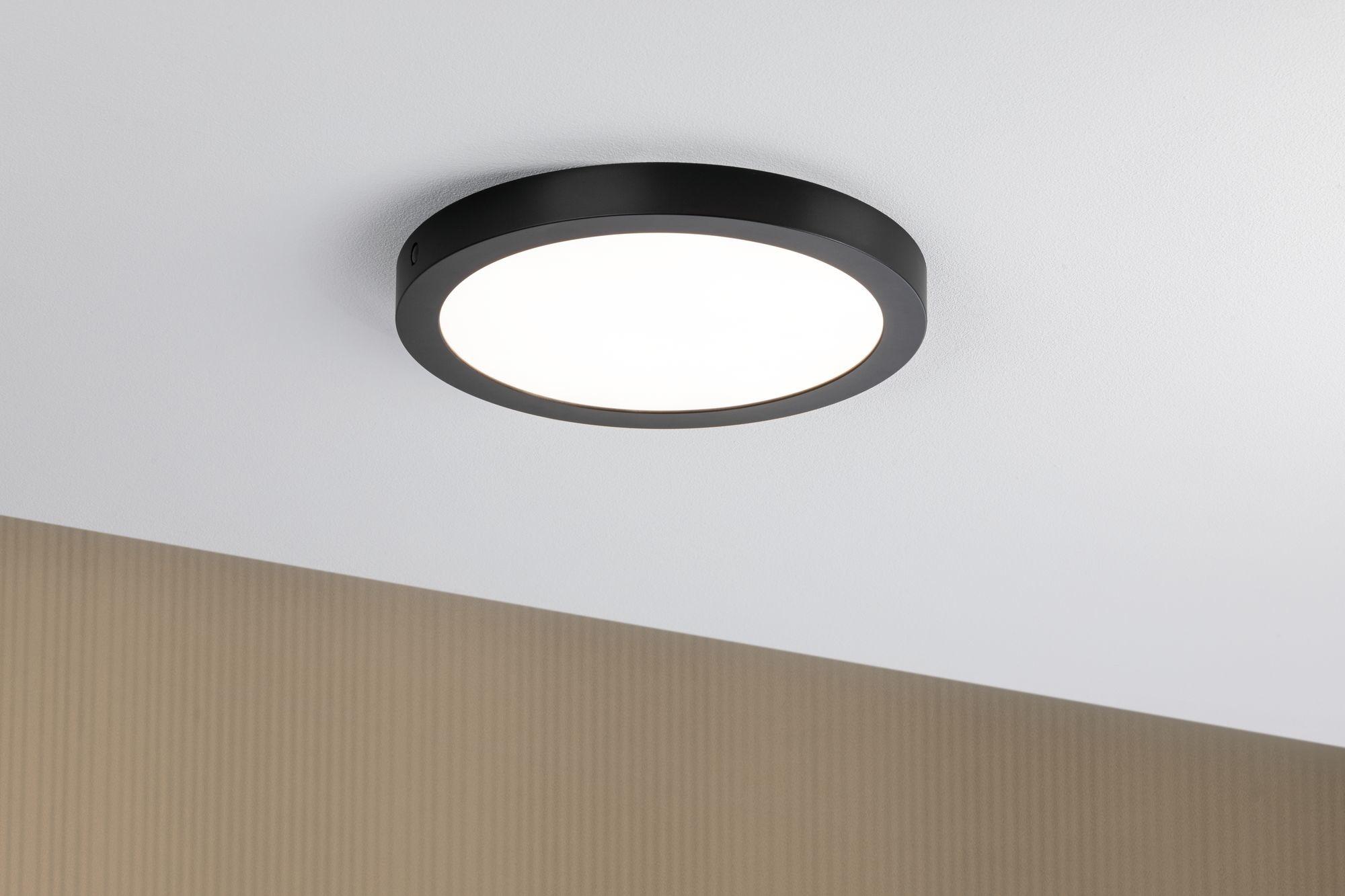 Paulmann LED Panel Abia rund 300mm 22W 2.700K Schwarz matt