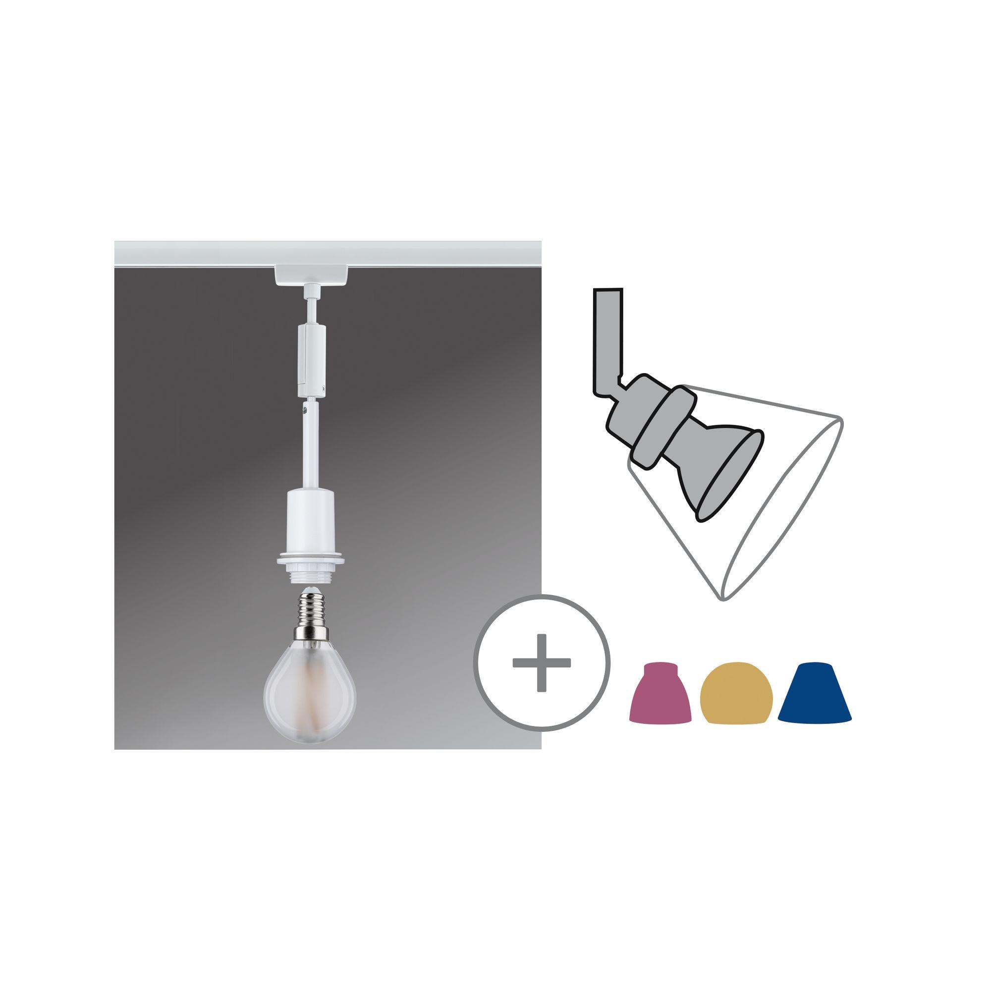Paulmann URail DecoSystems Pendel Weiß max. 1x20W E14 ohne Leuchtmittel