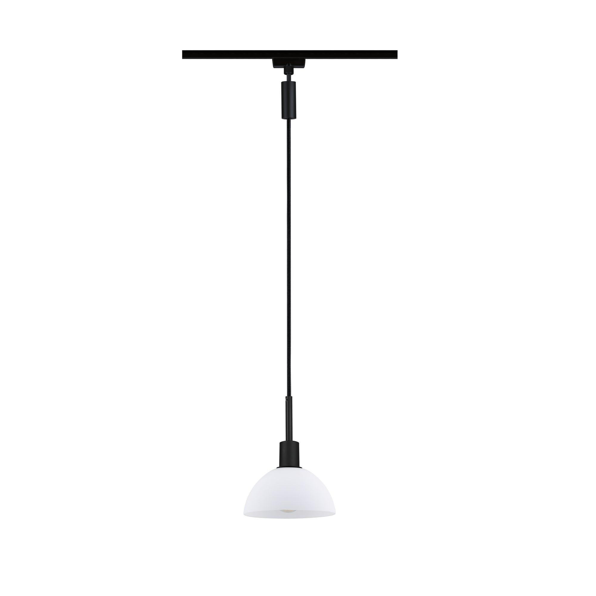 Paulmann URail Pendel Sarrasani Schwarz matt Opal max. 20W E14 ohne Leuchtmittel