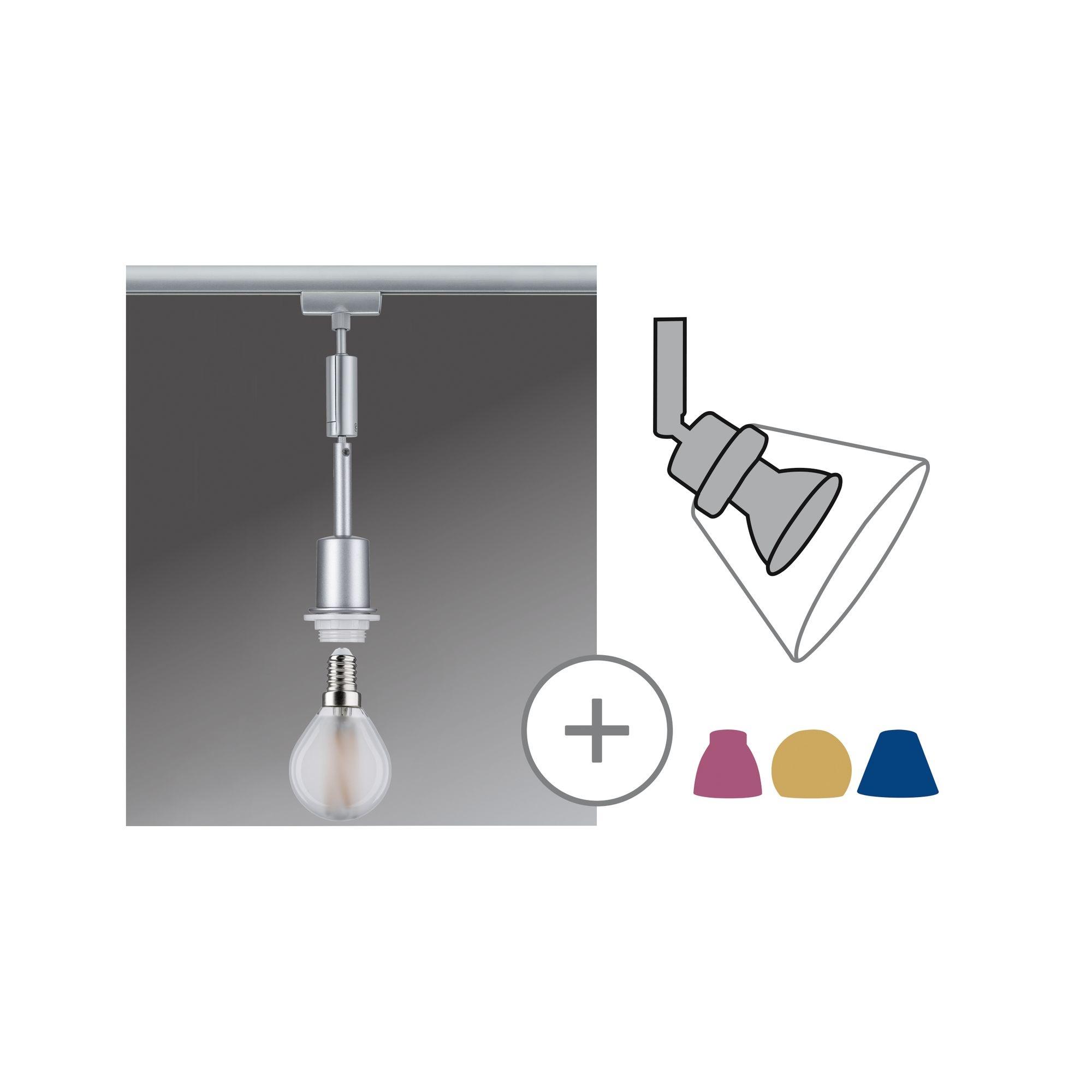 Paulmann URail DecoSystems Pendel Chrom matt max. 1x20W E14 ohne Leuchtmittel