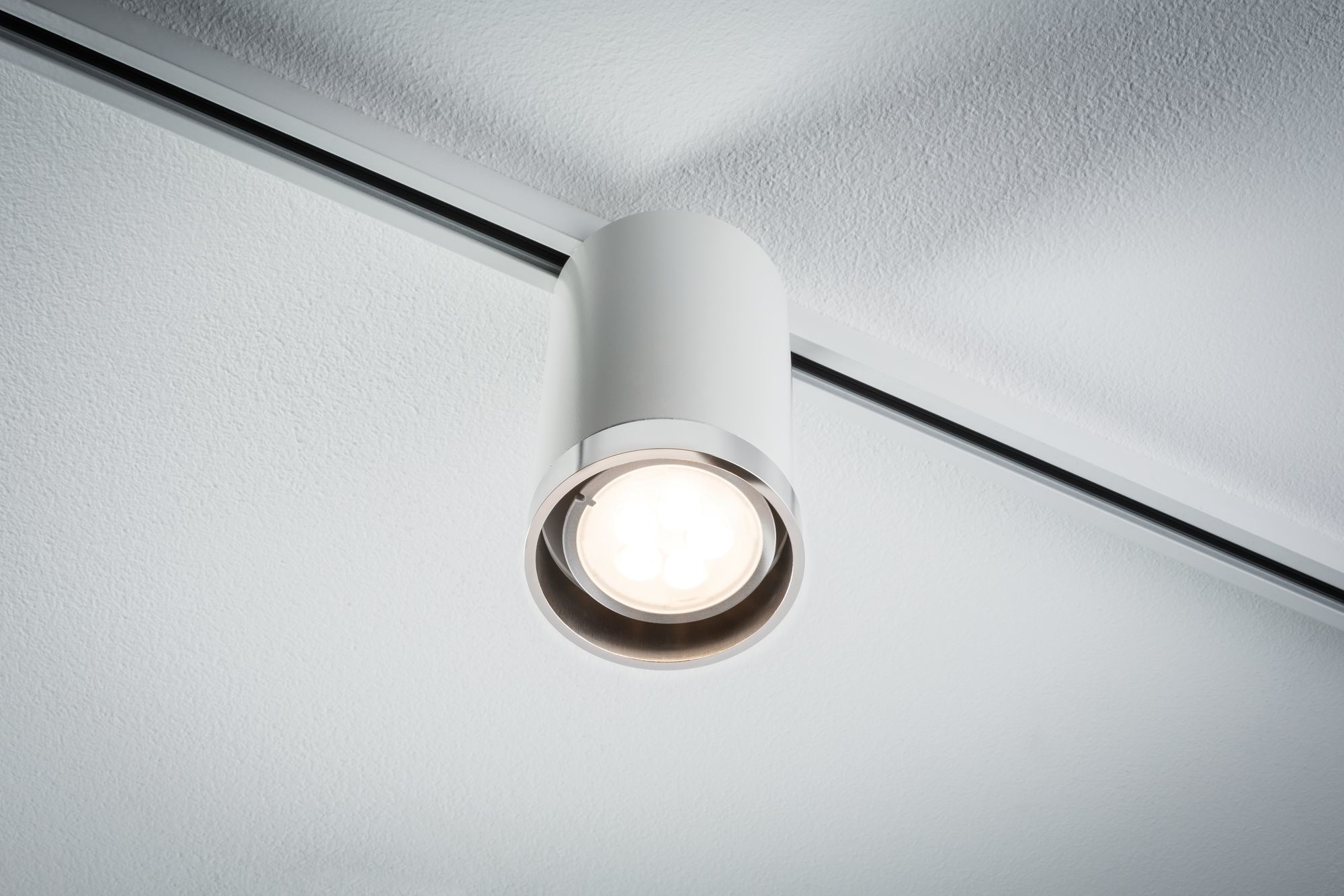 Paulmann URail Spot Tube Weiß#Chrom matt max. 1x10W GU10 ohne Leuchtmittel