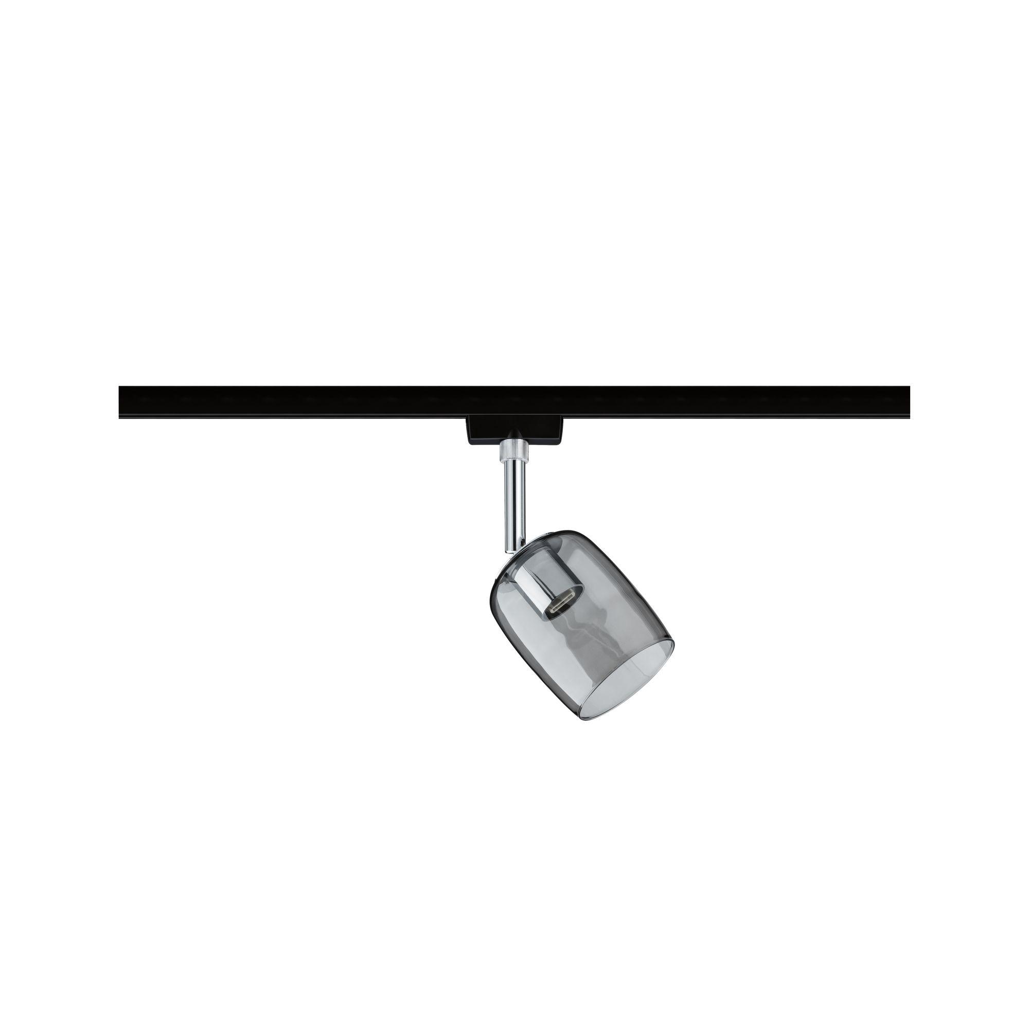 Paulmann URail Spot Blossom Schwarz/Matt Rauchglas max. 1x10W GU10 ohne Leuchtmittel