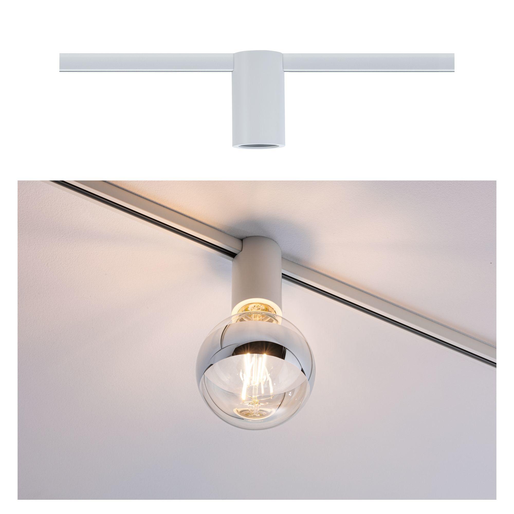 Paulmann URail Spot Ceiling Socket Weiß E27 dimmbar ohne Leuchtmittel