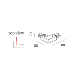 WEVER & DUCRÉ L-Verbinder links 1-Phasen System