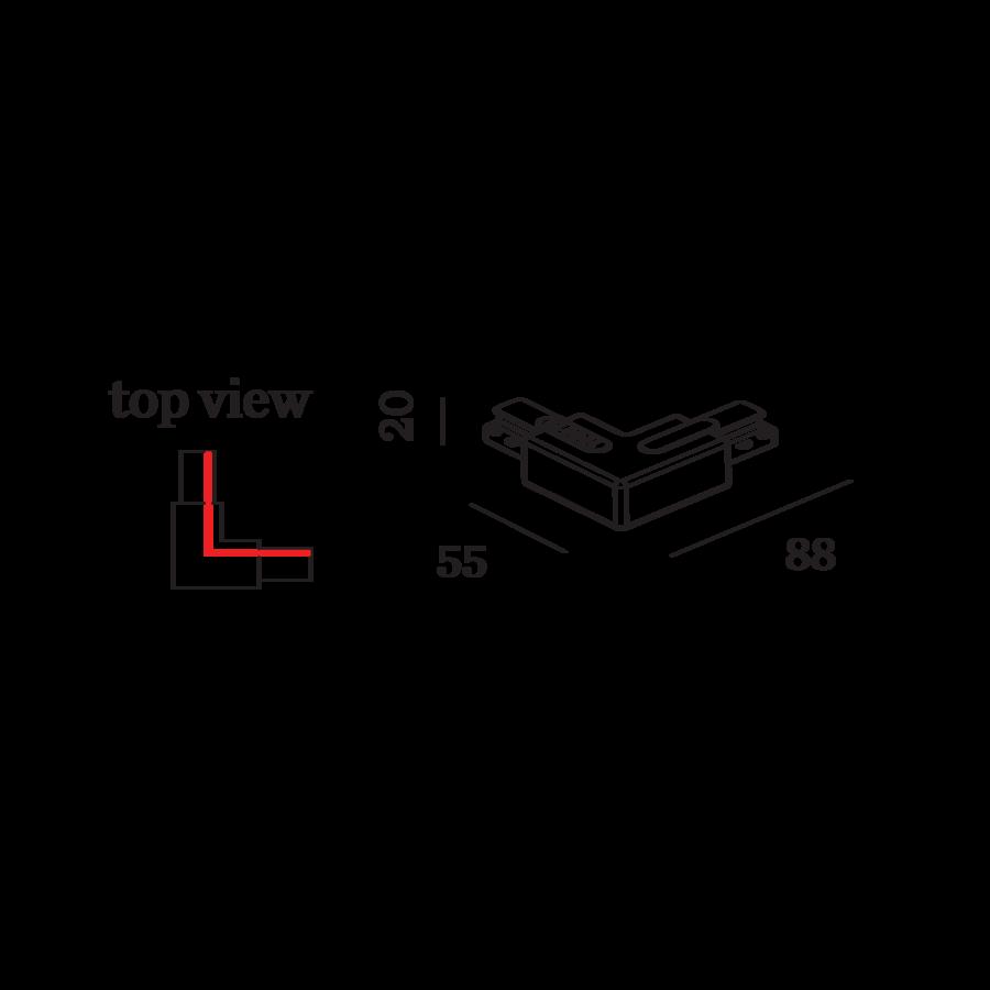 WEVER & DUCRÉ L-Verbinder links