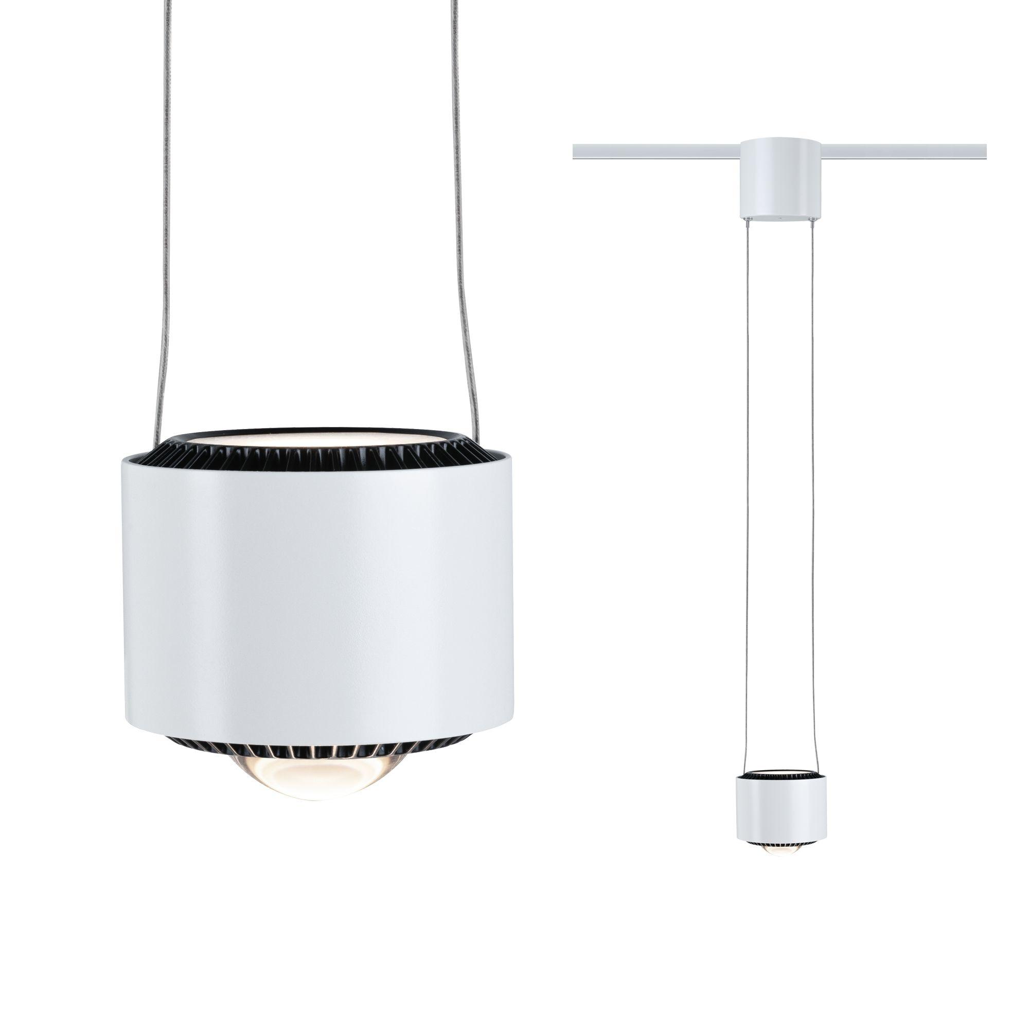 Paulmann URail LED Pendel Aldan 1-flammig 1x8,5W Weiß/Schwarz dimmbar