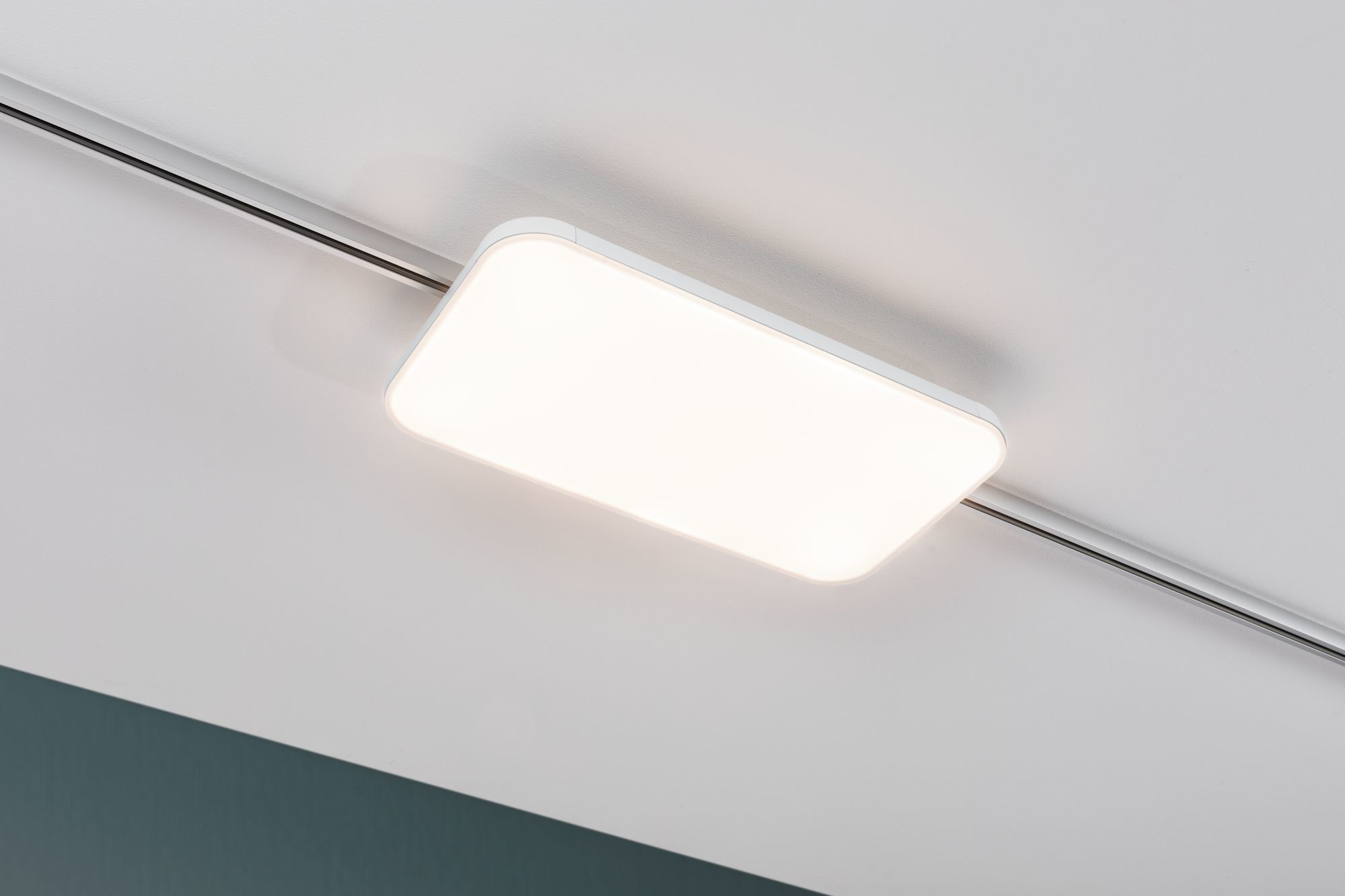 Paulmann URail LED Panel Campo 15,5W Weiß 3.000K Metall