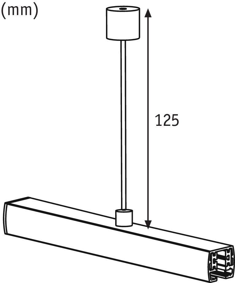 Paulmann Schienensystem Stangenabhängung 125/250mm Alu gebürstet