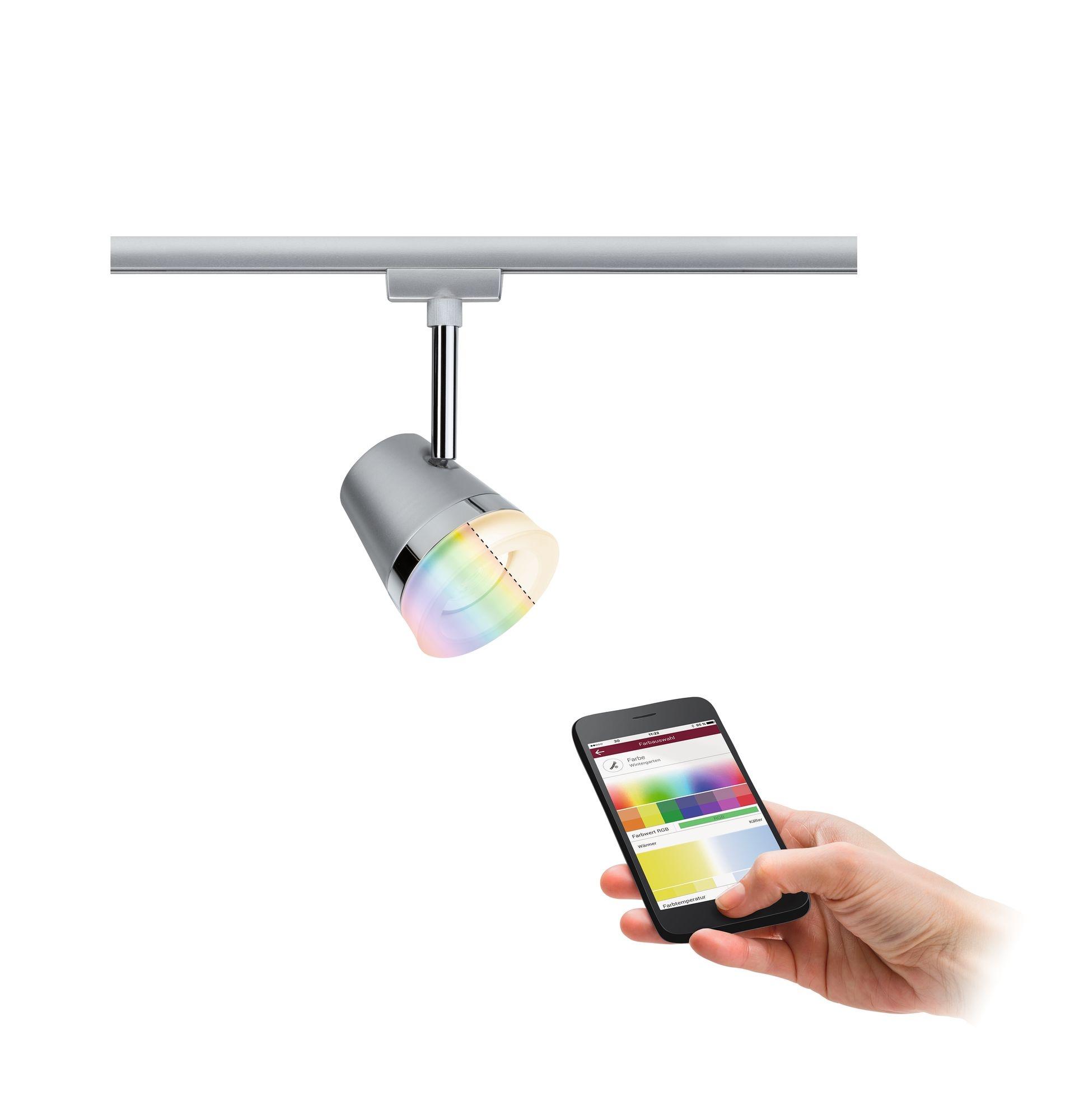 Paulmann Smart Home Zigbee URail Spot Cone RGBW Chrom matt 5,5W inkl. Leuchtmittel