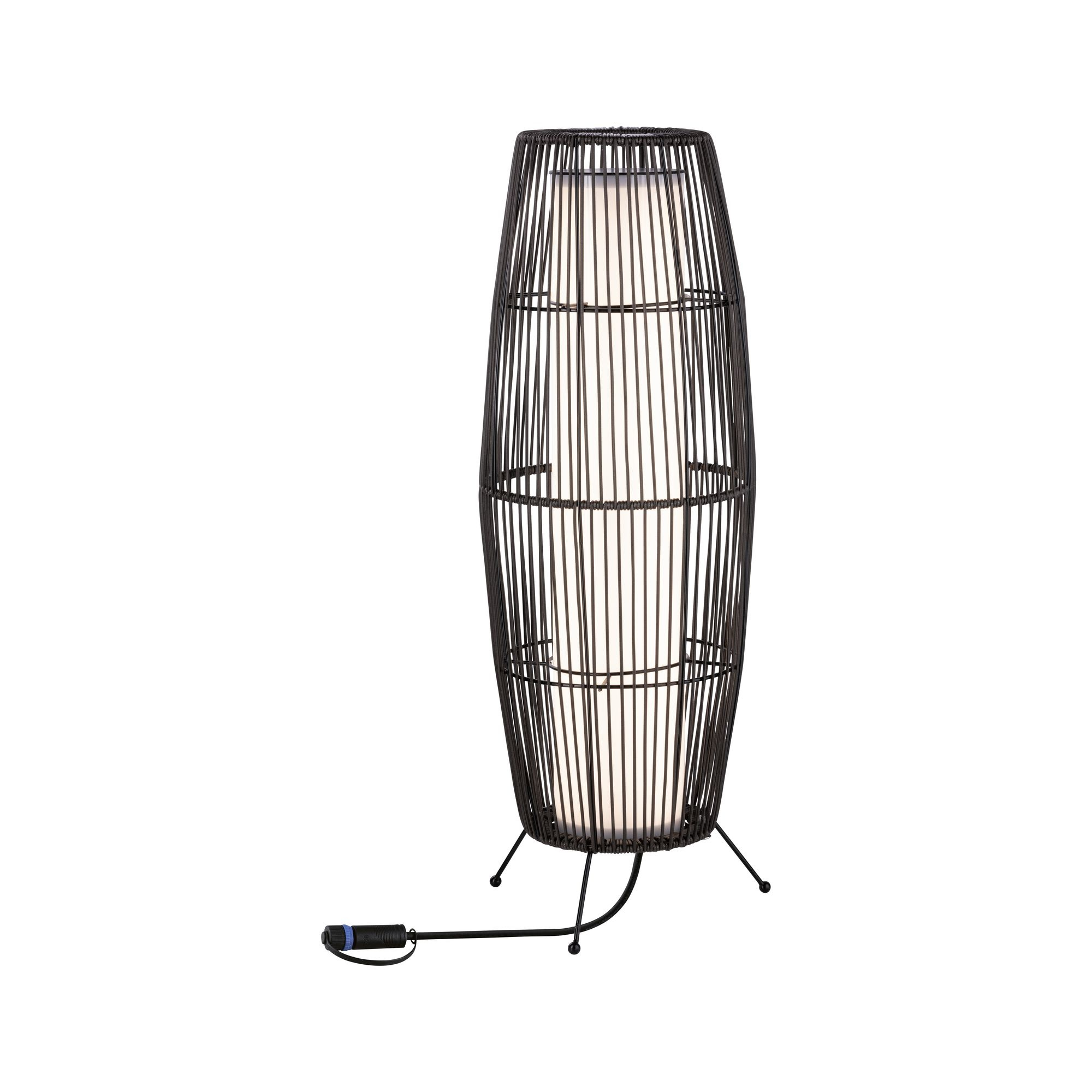 Paulmann Plug & Shine Lichtobjekt Basket IP44 3.000K 8W 24V Anthrazit 60x20cm
