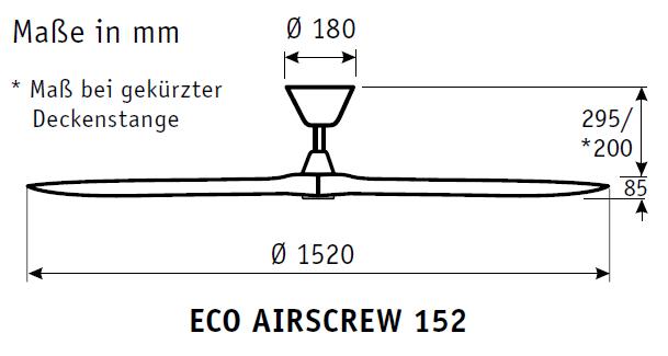 CasaFan Energiespar Deckenventilator ECO AIRSCREW