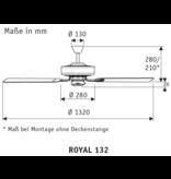 CasaFan Classic Royal 132