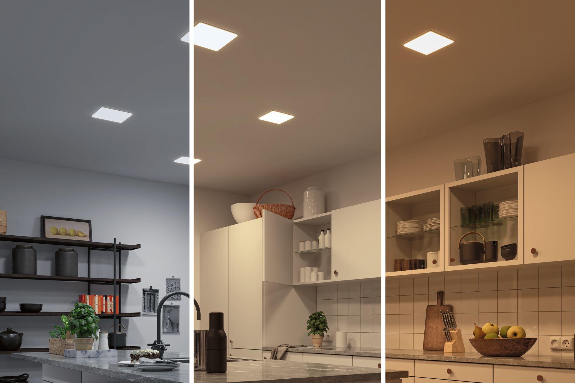 Paulmann Smart Home Zigbee LED Einbaupanel Veluna VariFit Tunable White 215mm x 215mm IP44 17W