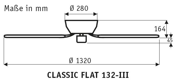 CasaFan CLASSIC FLAT 132-III