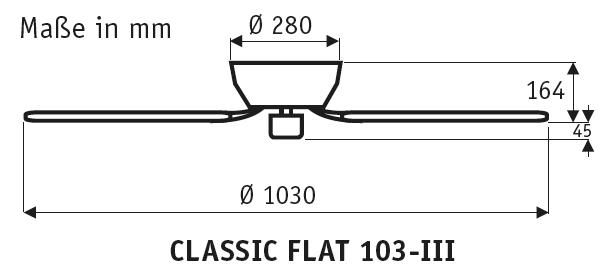 CasaFan Classic Flat 103-III