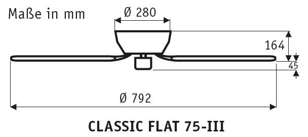 CasaFan Classic Flat 75-III