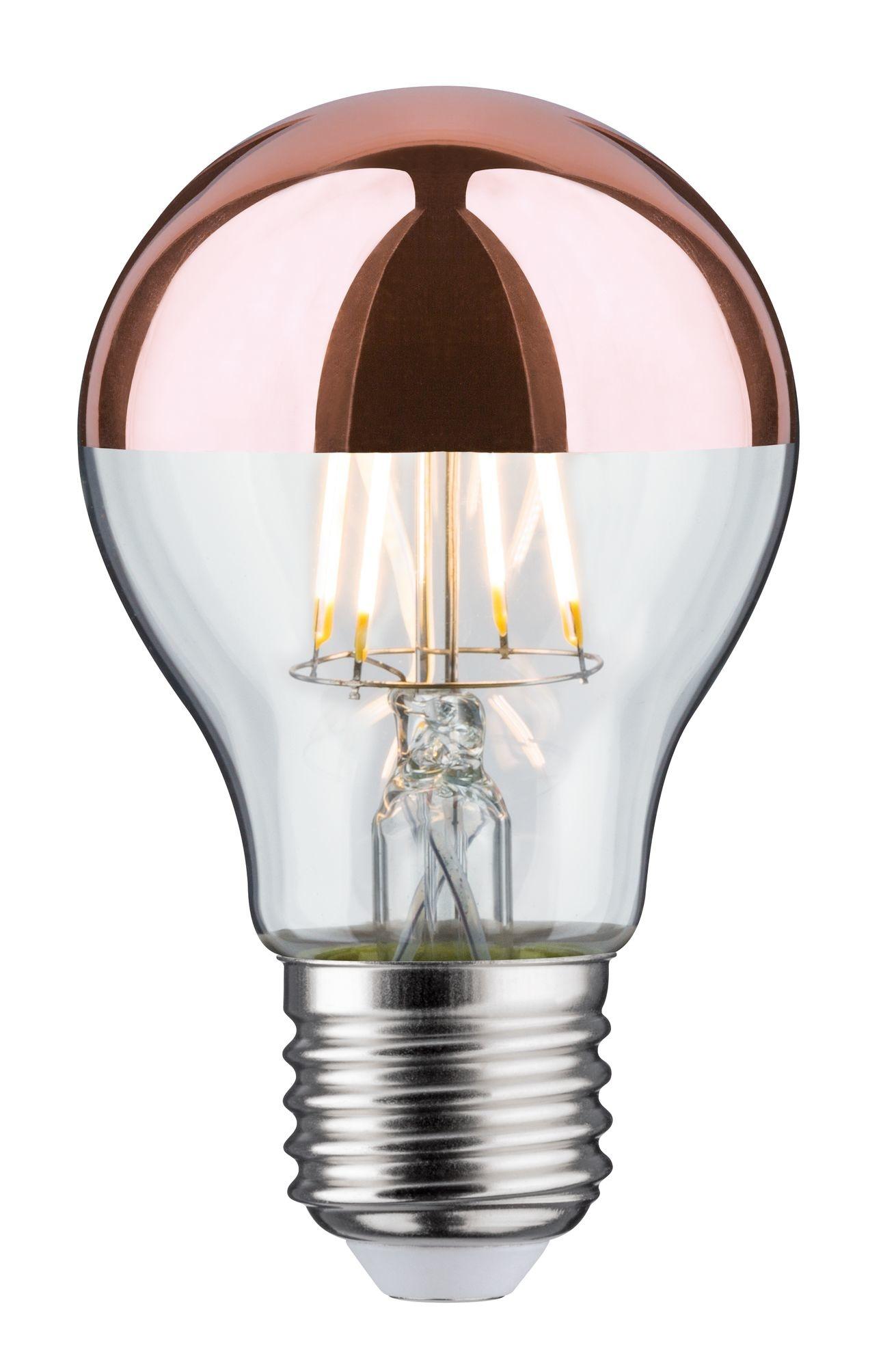 Paulmann LED Standardform 6,5 Watt E27 Kopfspiegel Kupfer Warmweiß