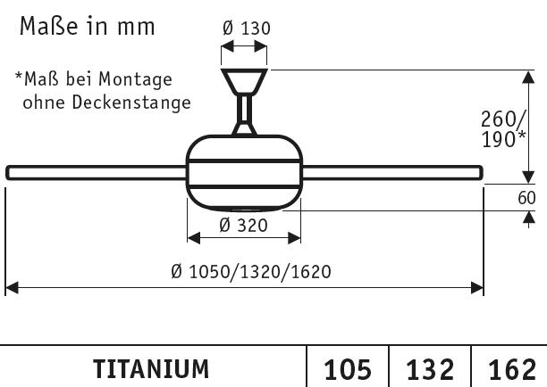 CasaFan Deckenventilator TITANIUM