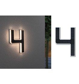Paulmann Outdoor Solar Hausnummer 4 IP44 3.000K 0,2W Akku wechselbar