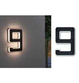 Paulmann Outdoor Solar Hausnummer 9 IP44 3.000K 0,2W Akku wechselbar