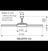 CasaFan Deckenventilator Falcetto