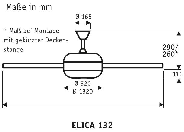 CasaFan Deckenventilator ELICA