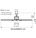 CasaFan Energiespar Deckenventilator ECO ELEMENTS 132