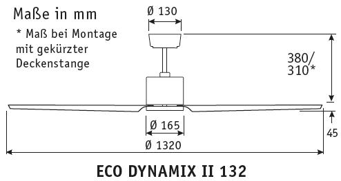 CasaFan Energiespar-Deckenventilator ECO DYNAMIX II
