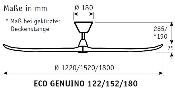 CasaFan Energiespar Deckenventilator ECO GENUINO 122
