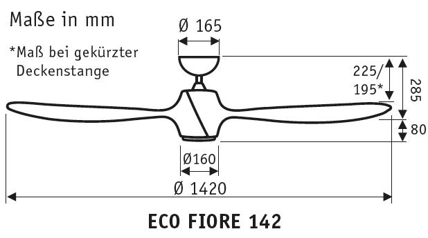 CasaFan Energiespar Deckenventilator ECO FIORE