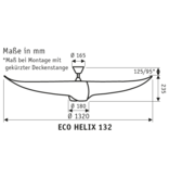 CasaFan Energiespar Deckenventilator ECO HELIX