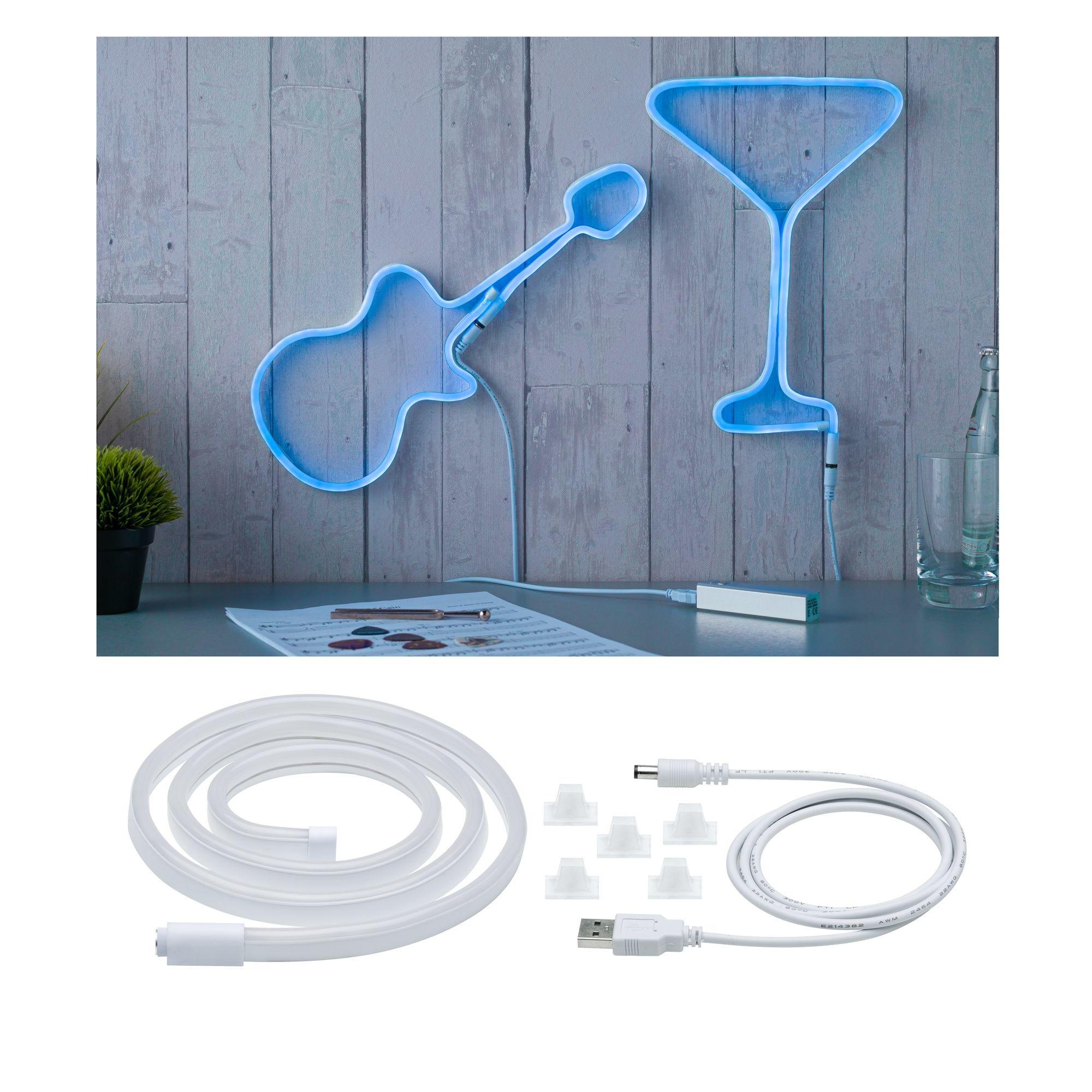 Paulmann Neon Colorflex USB Strip Blue 1m 4,5W 5V Blau/Weiß Kunststoff