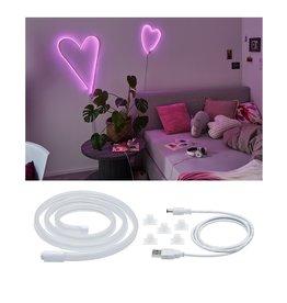 Paulmann Neon Colorflex USB Strip Pink 1m 4,5W 5V Pink/Weiß Kunststoff