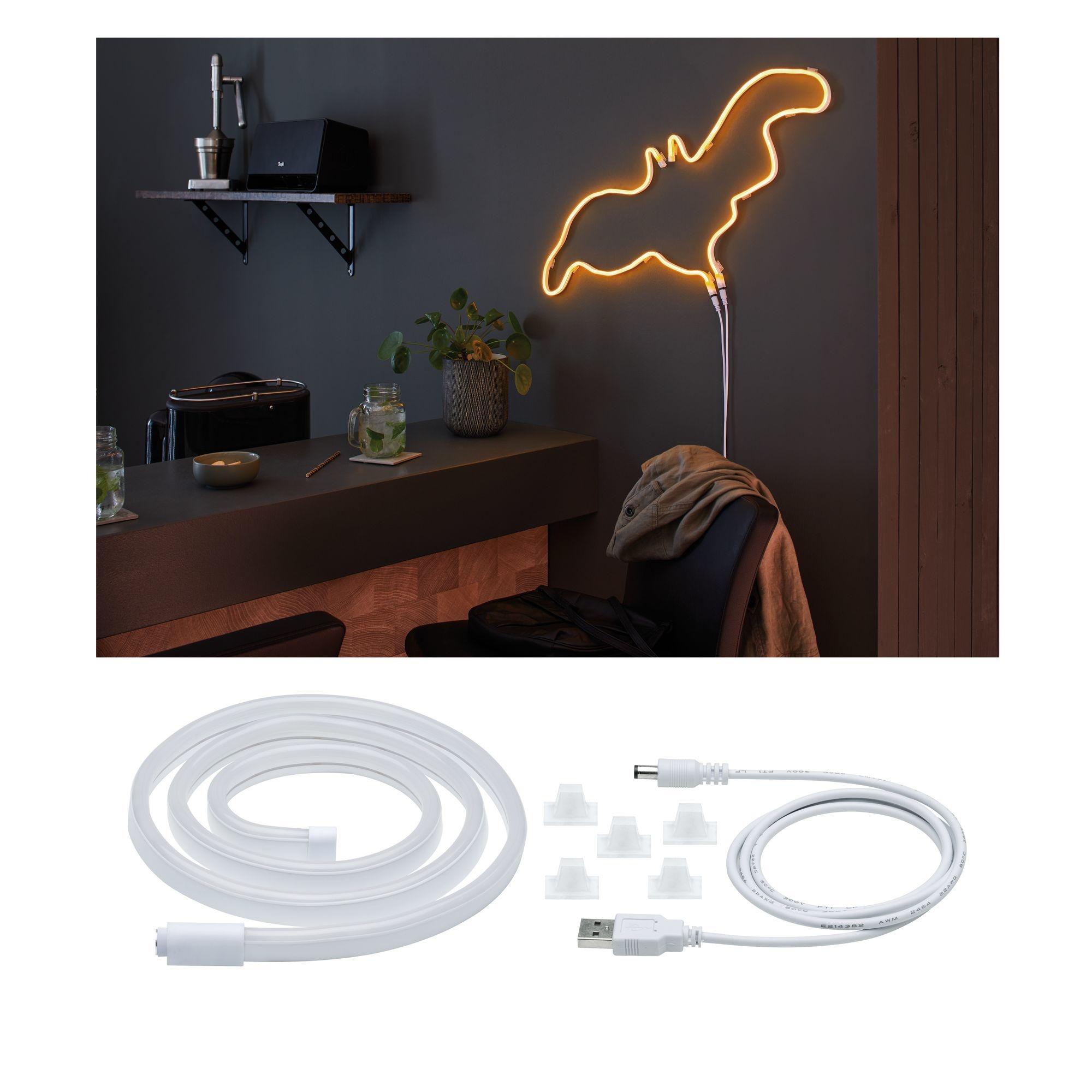 Paulmann Neon Colorflex USB Strip Orange 1m 4,5W 5V Orange/Weiß Kunststoff