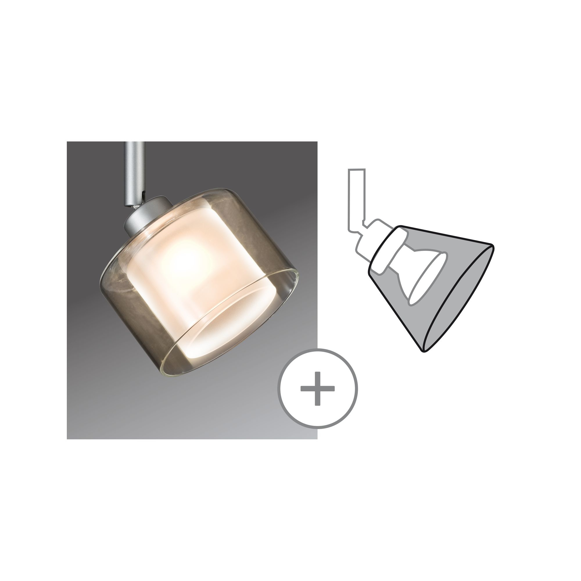 Paulmann DecoSystems Deco Schirm Twice Klar, Opak, Glas