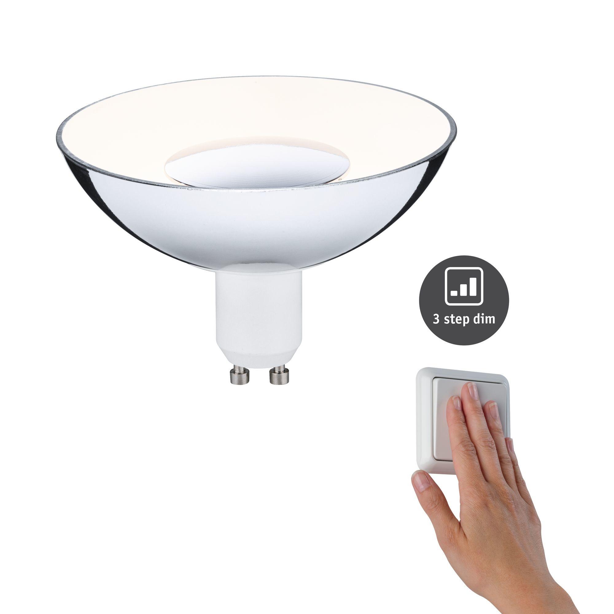 Paulmann LED Reflektor Silber/Weiß GU10 4,9W 230V 3-Stufen-dimmbar