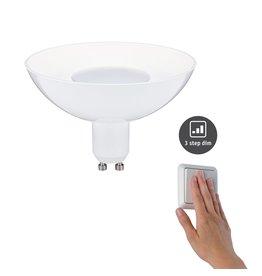 Paulmann LED Reflektor Weiß GU10 4,9W 230V 3-Stufen-dimmbar