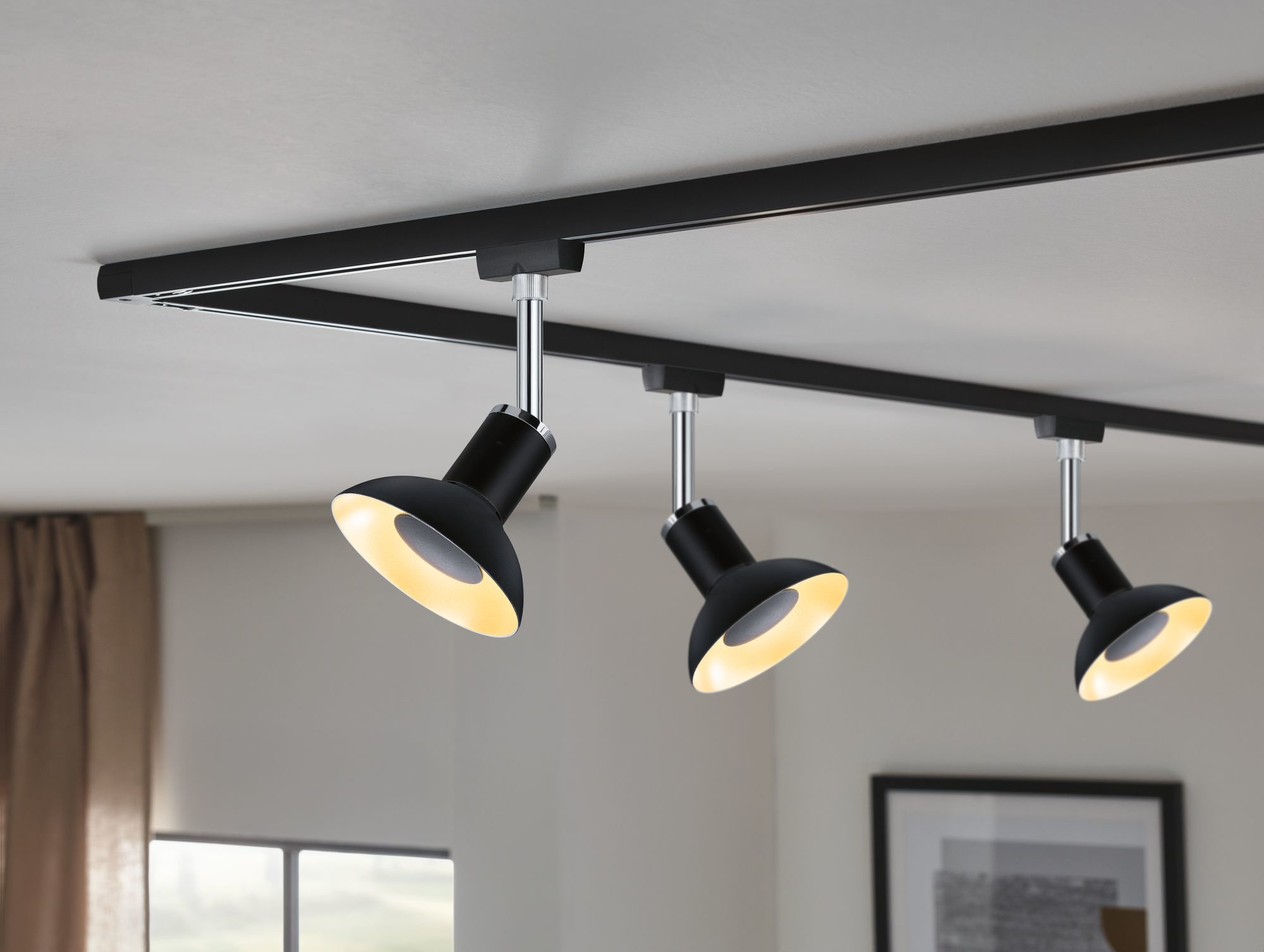 Paulmann LED Reflektor Schwarz#Gold 4,9W GU10 230V 3-Stufen-dimmbar