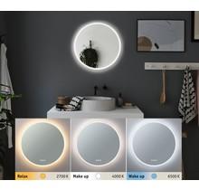 HomeSpa LED Leuchtspiegel Mirra rund IP44 Spiegel/Weiß 21W WhiteSwitch