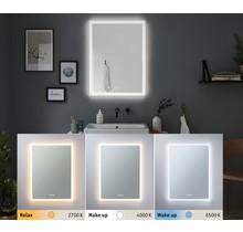 HomeSpa LED Leuchtspiegel Mirra eckig IP44 Spiegel/Weiß 22W WhiteSwitch