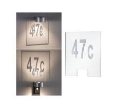 Hausnummer für House Wandleuchte Cone Transparent/Silber