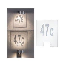 Paulmann Hausnummer für House Wandleuchte Cone Transparent/Silber