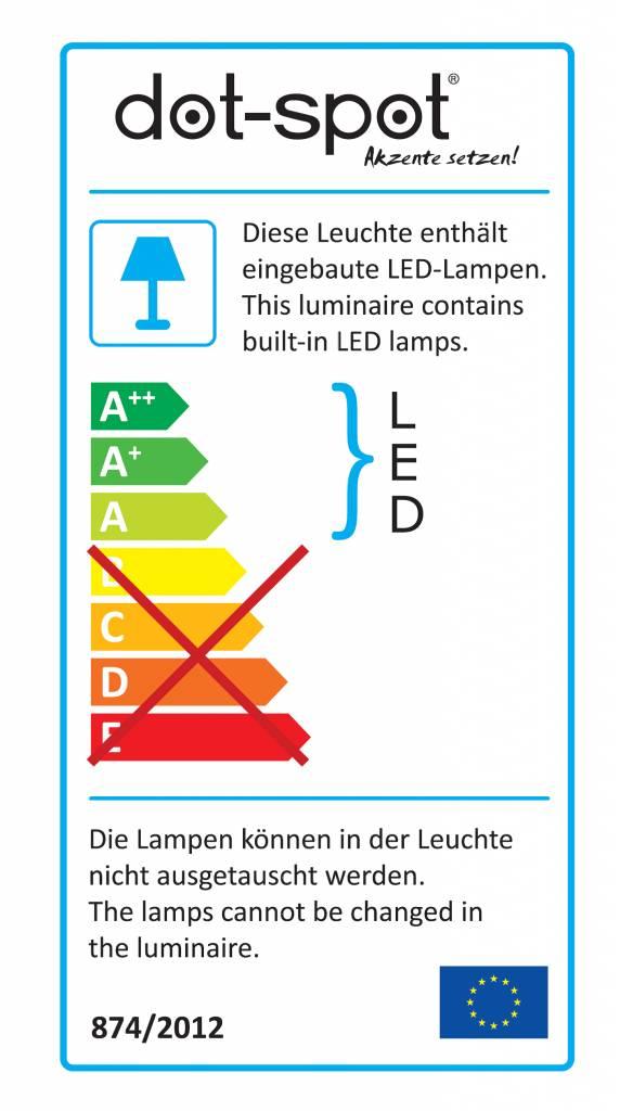 dot-spot side-light 230 V kaltweiss weiß lackiert