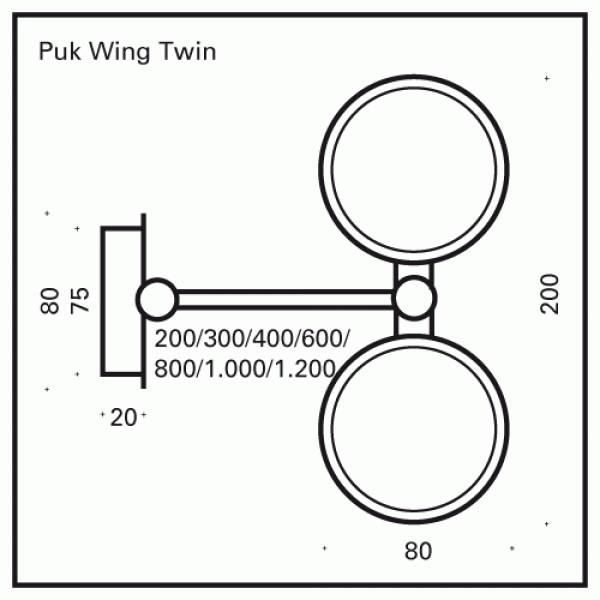 Top Light PUK Wing Twin LED