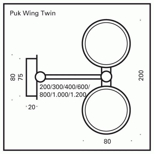 Top Light PUK Wing Twin Halogen