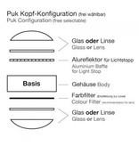 Top Light PUK Table Twin Halogen