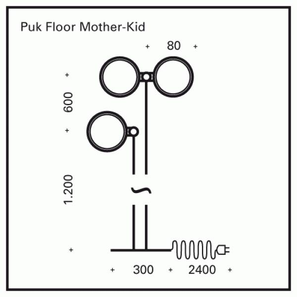 Top Light PUK Floor Mother-Kid Halogen