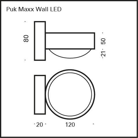 Top Light PUK Maxx Wall LED